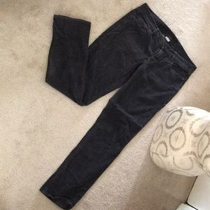 Charcoal grey corduroy pants JCREW